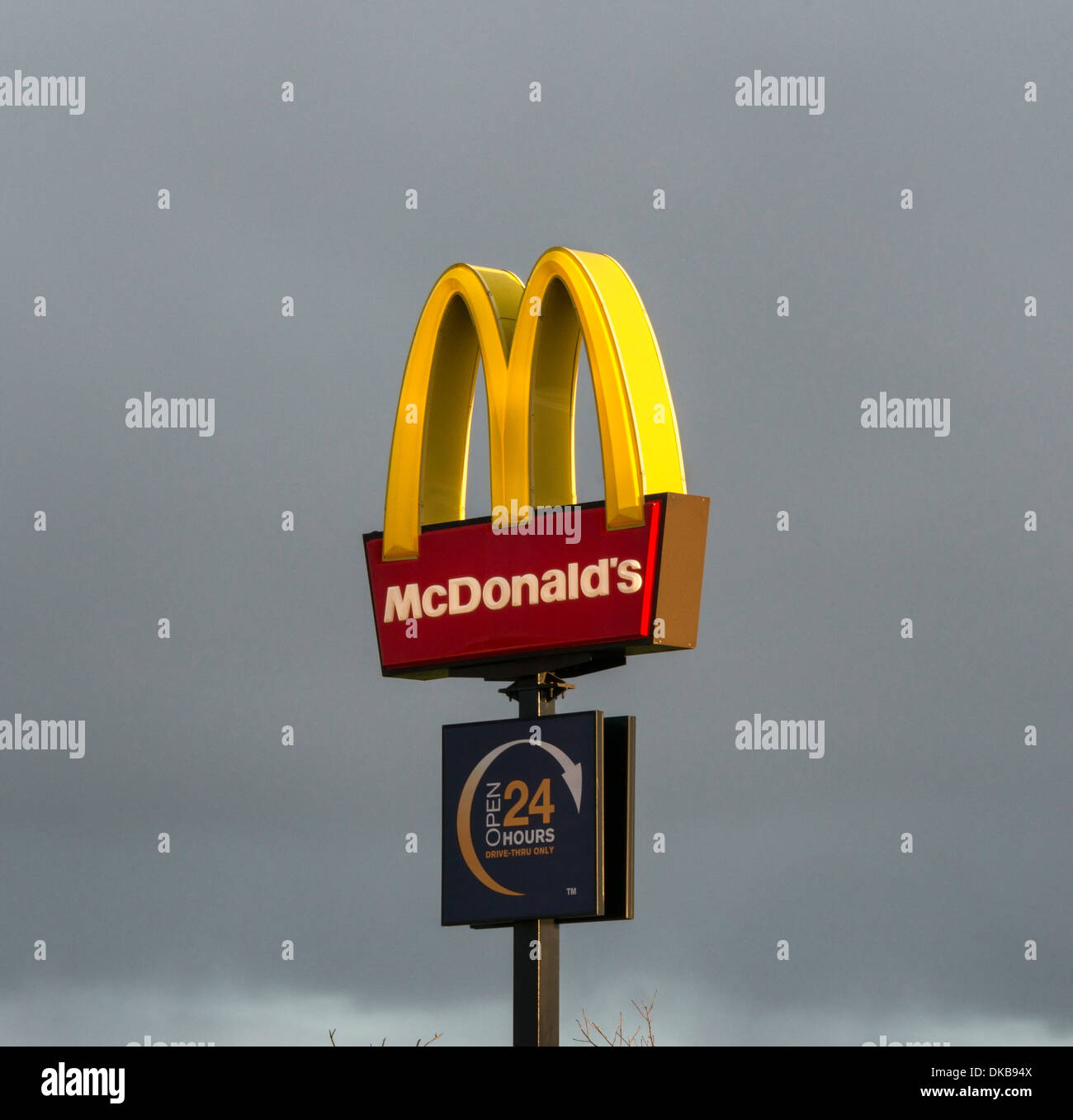 McDonald's Sign - Stock Image