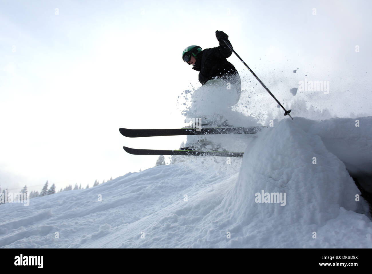 Skier jumping - Stock Image