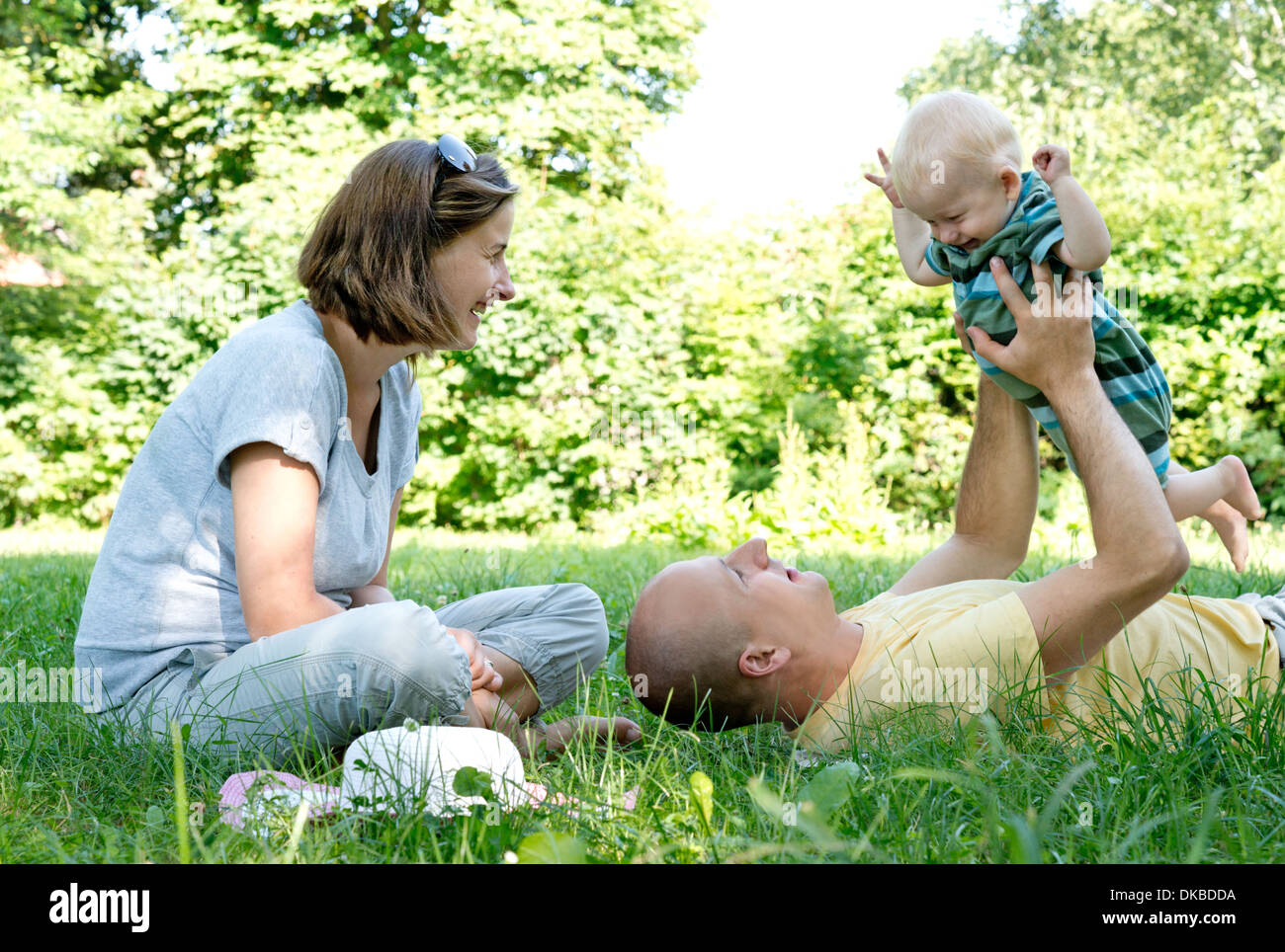 young family - Stock Image