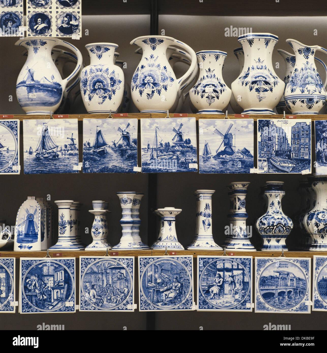 Delft Blue China Holland Amsterdam Netherlands Stock