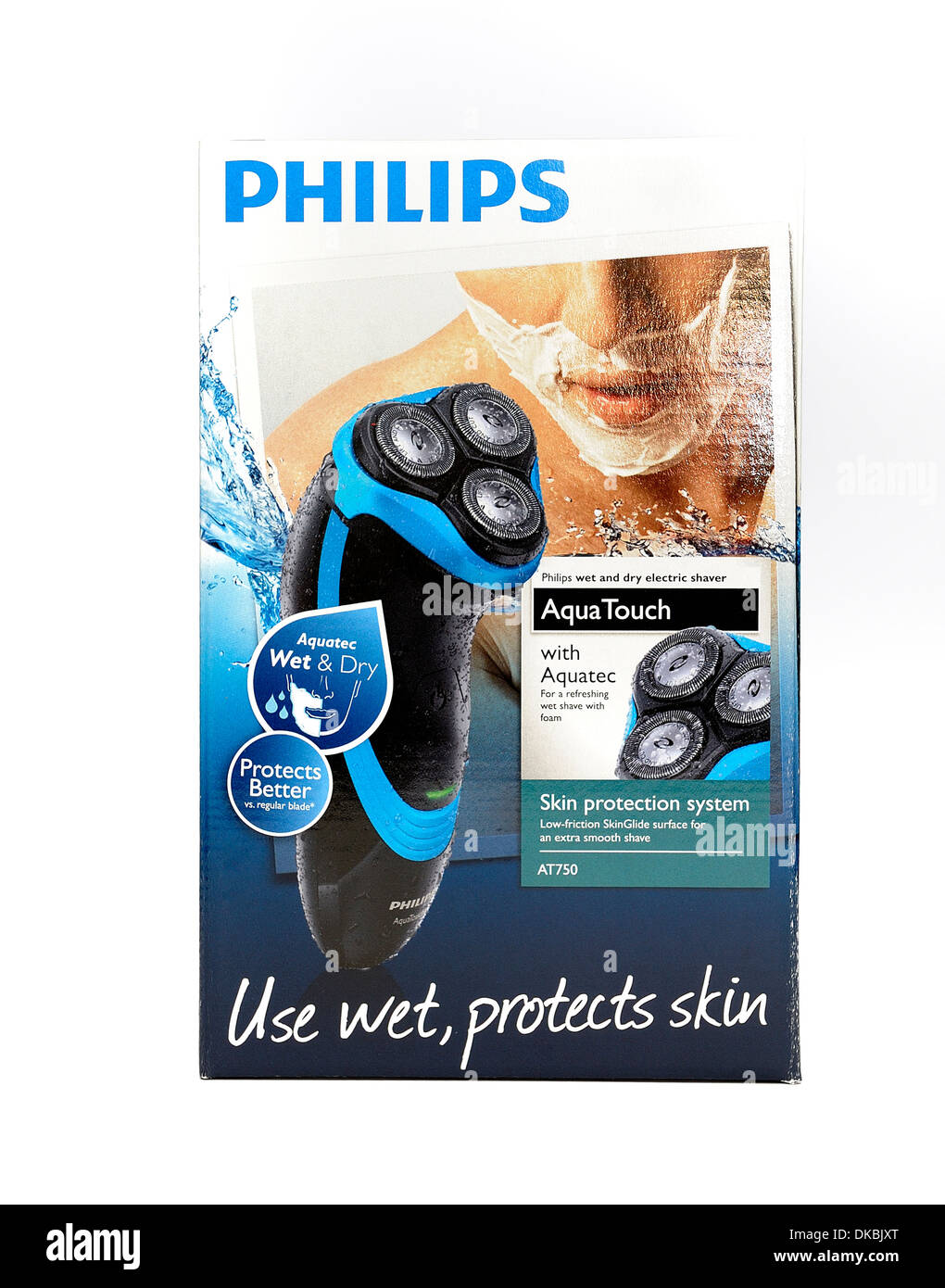 Philips Aqua touch rechargeable wet and dry electric shaver - Stock Image