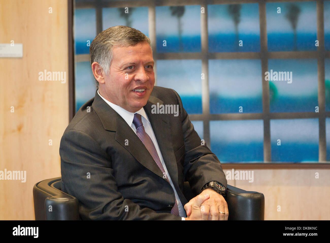 King Abdullah II of Jordan - Stock Image