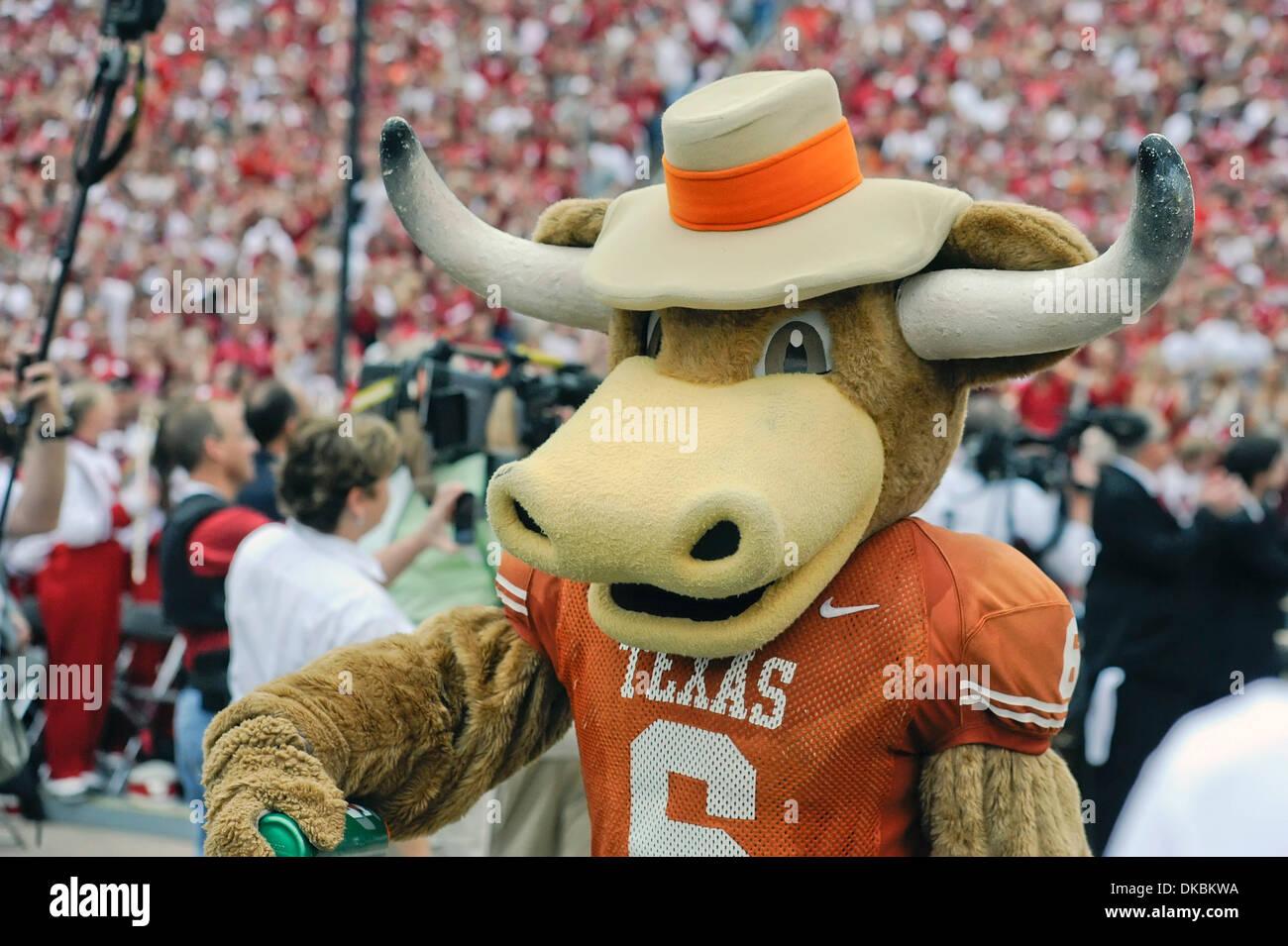 Oct. 8 2011 - Dallas Texas U.S - Texas mascot Bevo prior & Texas Longhorns Mascot Stock Photos u0026 Texas Longhorns Mascot Stock ...