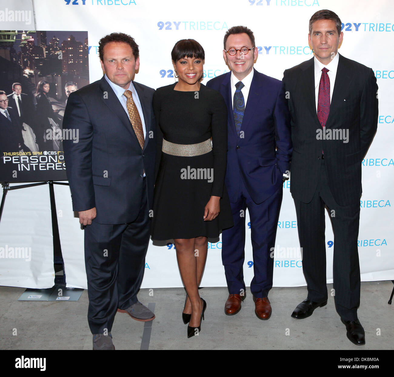 The Cast of Person of Interest L-R Kevin Chapman Taraji P Henson
