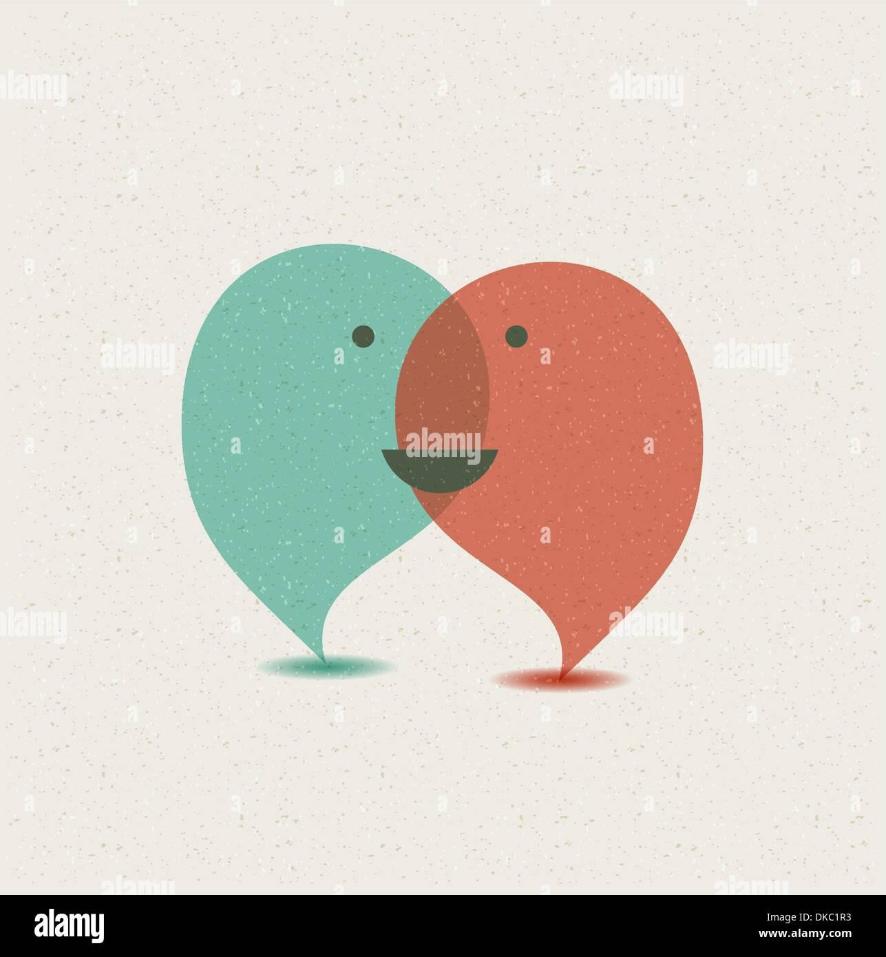 Dialog speech bubbles. - Stock Image
