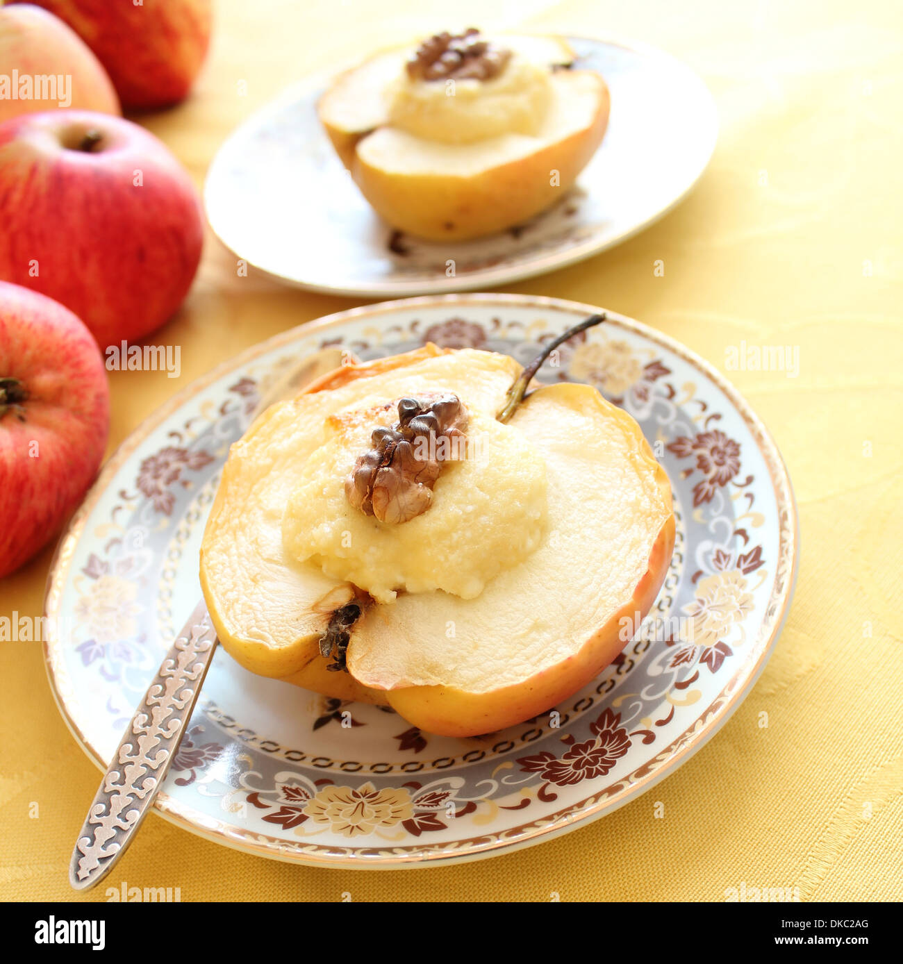 Baked apples with cottage cheese - a favorite dessert 11
