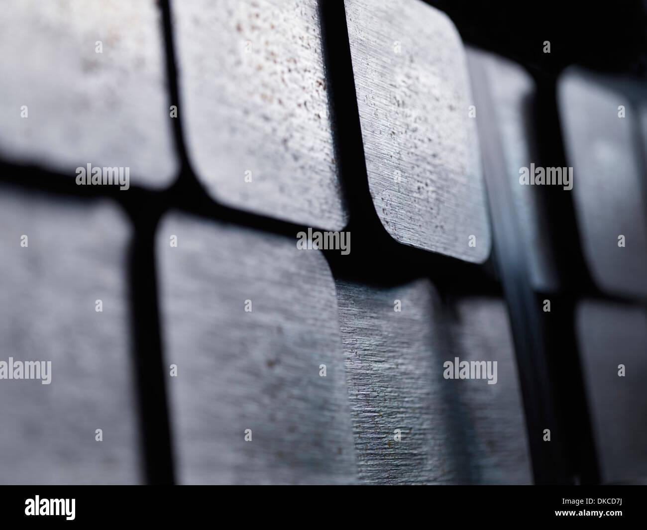 100mm square steel billet - Stock Image