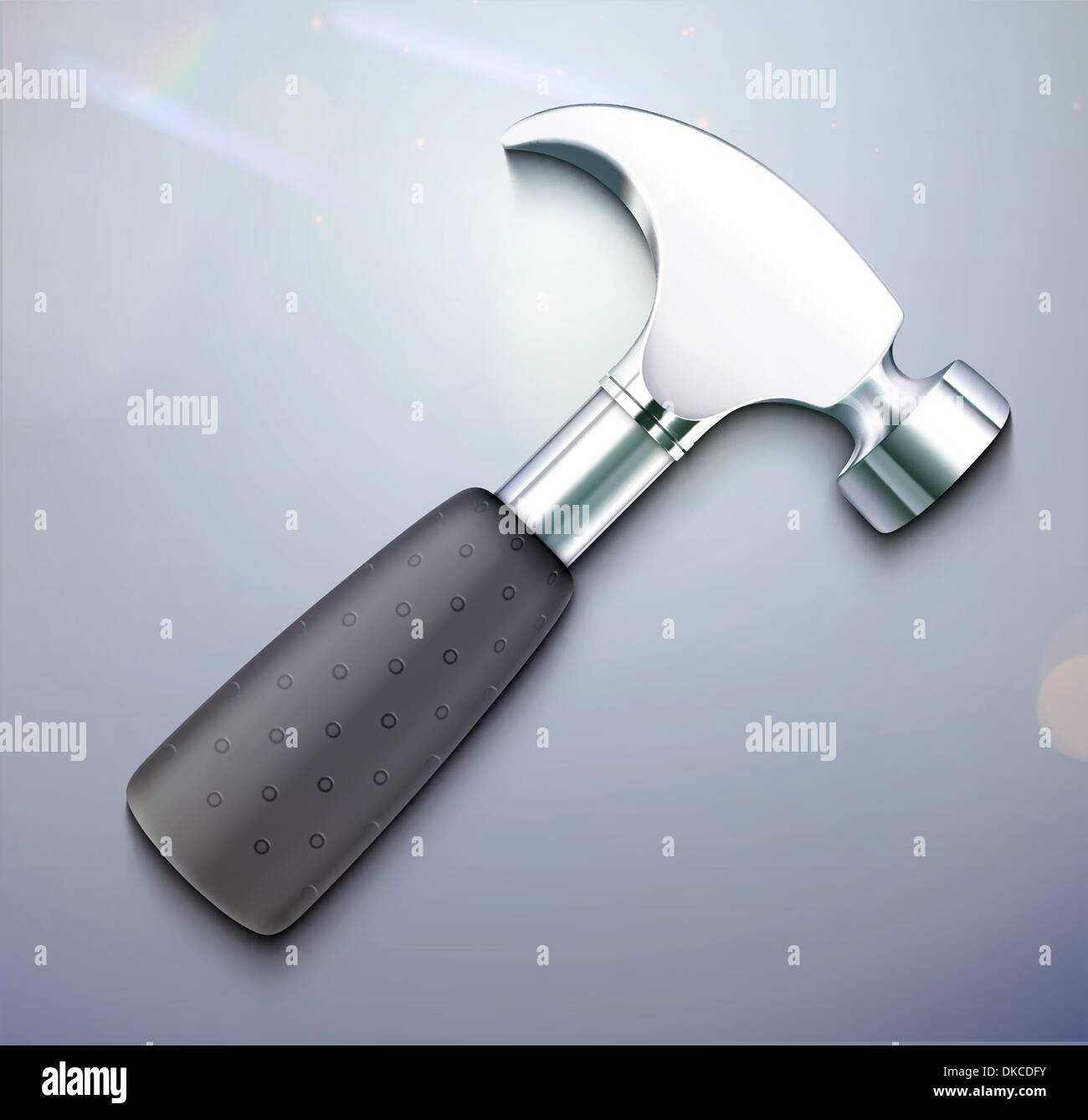 Vector illustration of a single detailed hammer icon Stock Vector