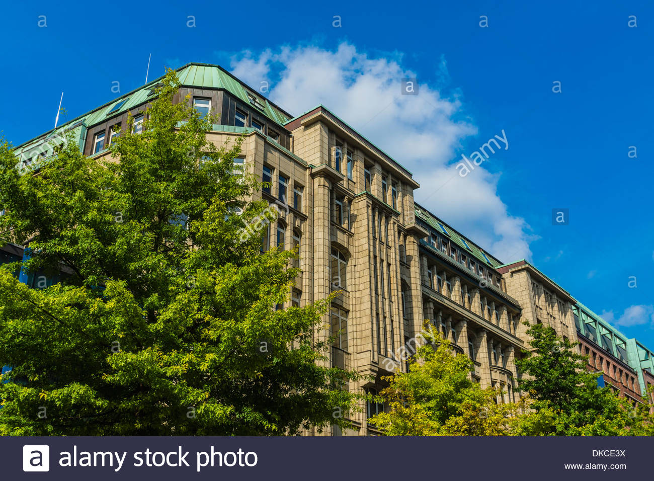 Commercial buildings, Hamburg, Germany - Stock Image