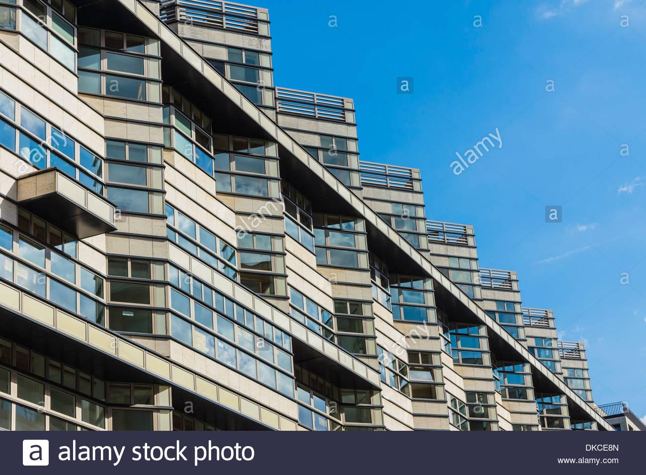 Office buildings, Berlin, Germany - Stock Image
