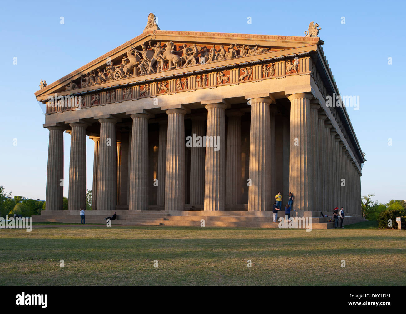 In Nashville Tennessee stands a full-scale replica of the original Parthenon in Athens. It was built in 1897. - Stock Image