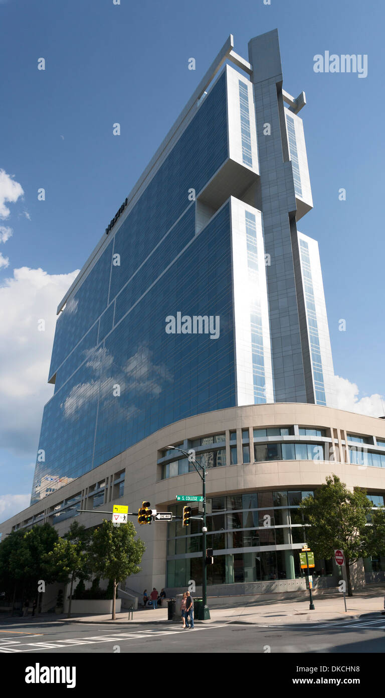 The Westin Hotel in downtown Charlotte, SC - Stock Image