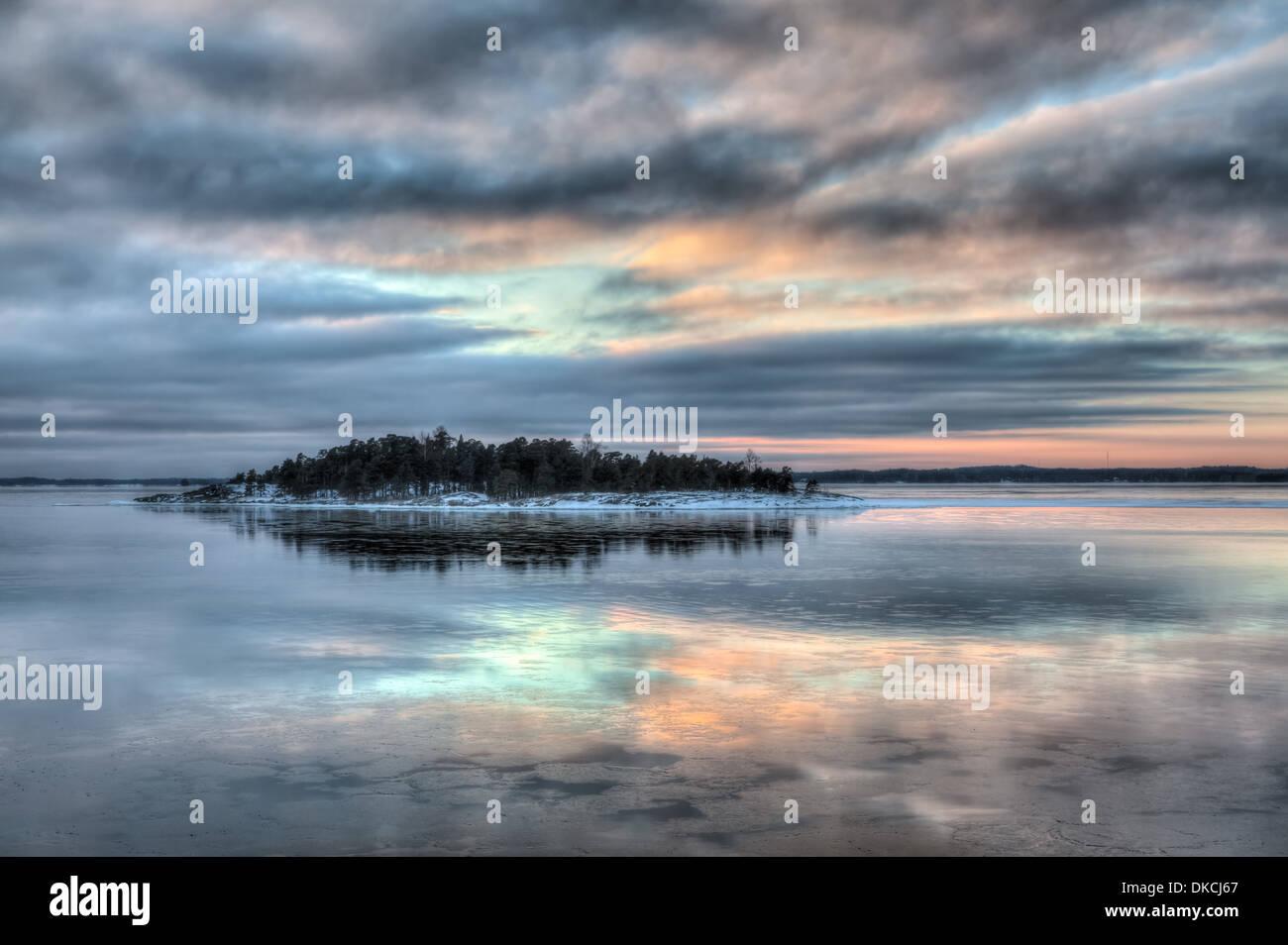Baltic Sea at winter, Finland - Stock Image