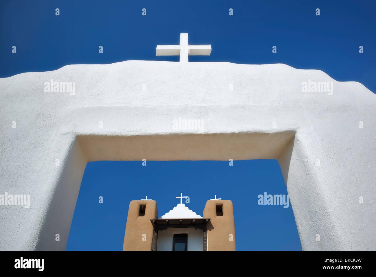 San Geronimo Church in Pueblo de Taos. Taos, New Mexico. - Stock Image