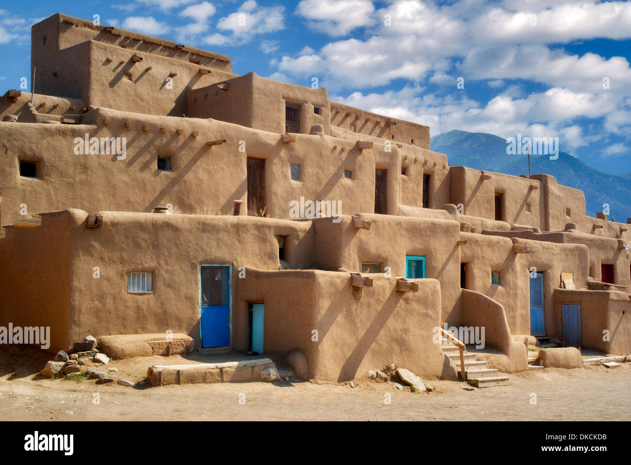 Dwelling structures in Pueblo de Taos. Taos, New Mexico - Stock Image