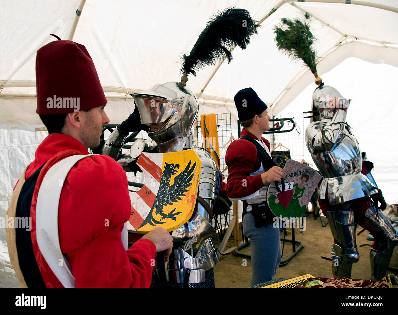 Oct. 23, 2011 - Poway, California, USA -  Knights dress for battle at the Fifth Annual Tournament of the Phoenix Stock Photo