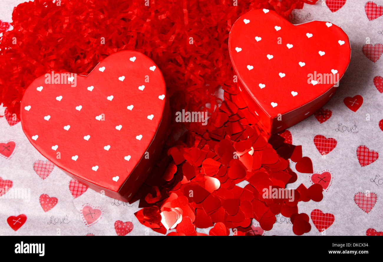 An image showing the concept of Valentines day with heart shaped ...