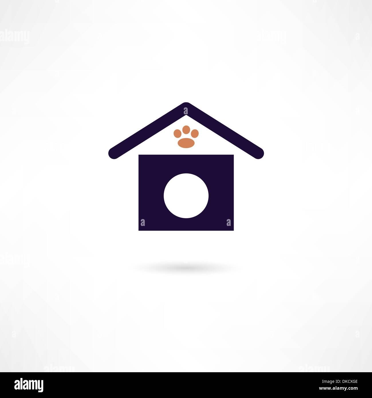 dog house icon - Stock Vector