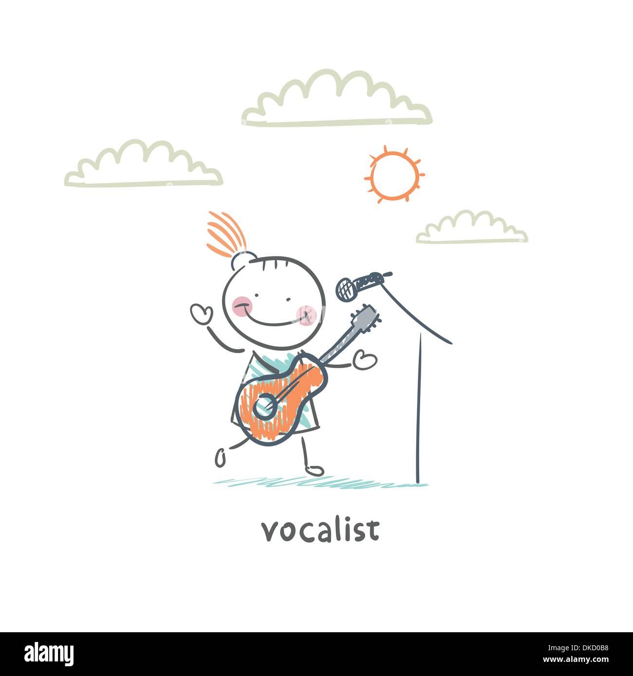 Cantatrice Stock Vector