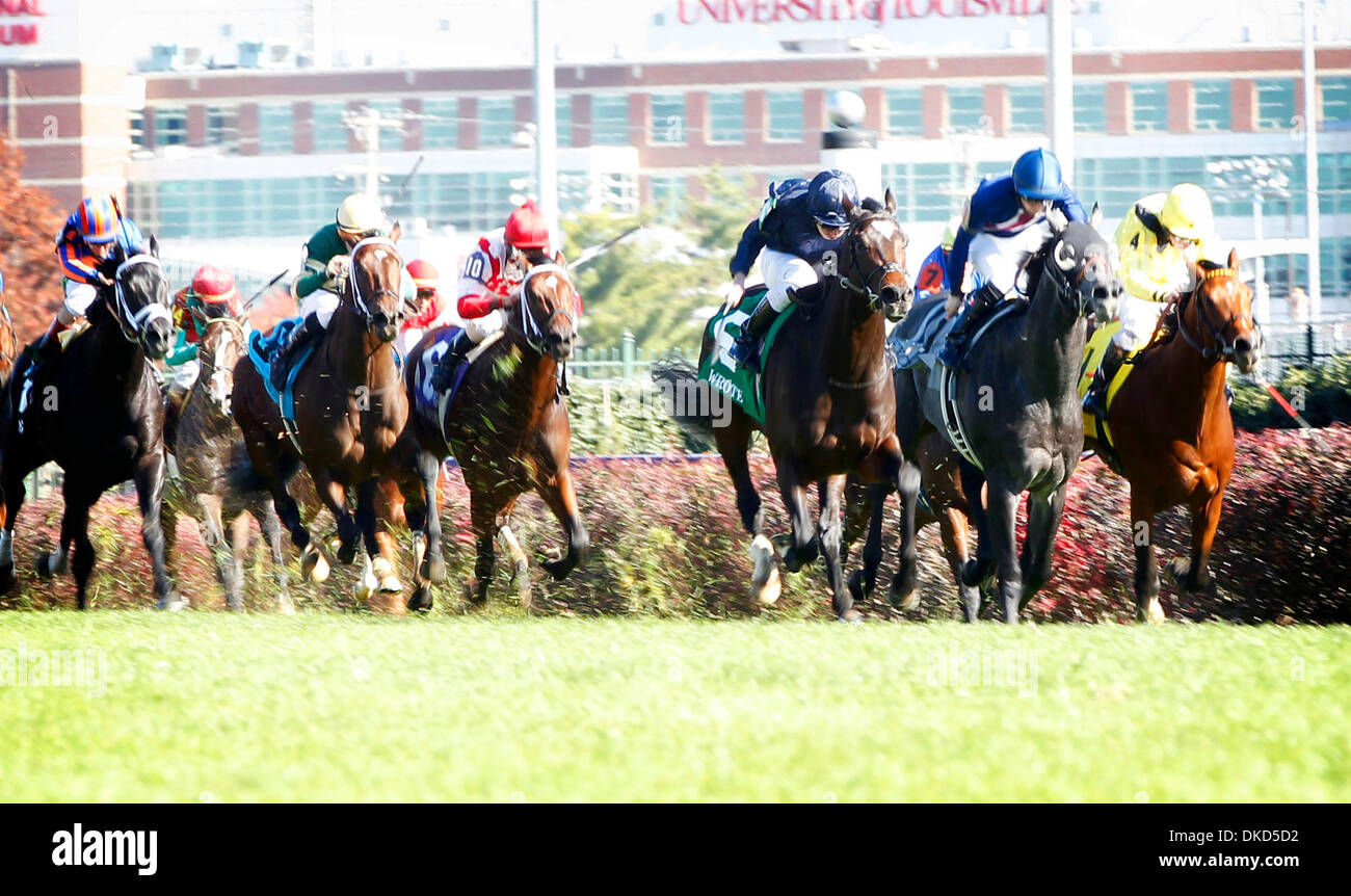 Nov. 5, 2011 - Louisville, KY, USA - Wrote,5, with Ryan Moore up, won the Breeder's Cup Juvenile Turf (G1) held Stock Photo