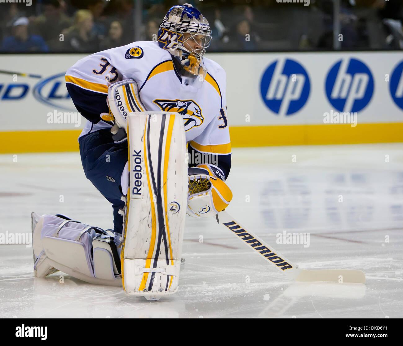 Nov 5 2011 San Jose California U S Nashville Predators