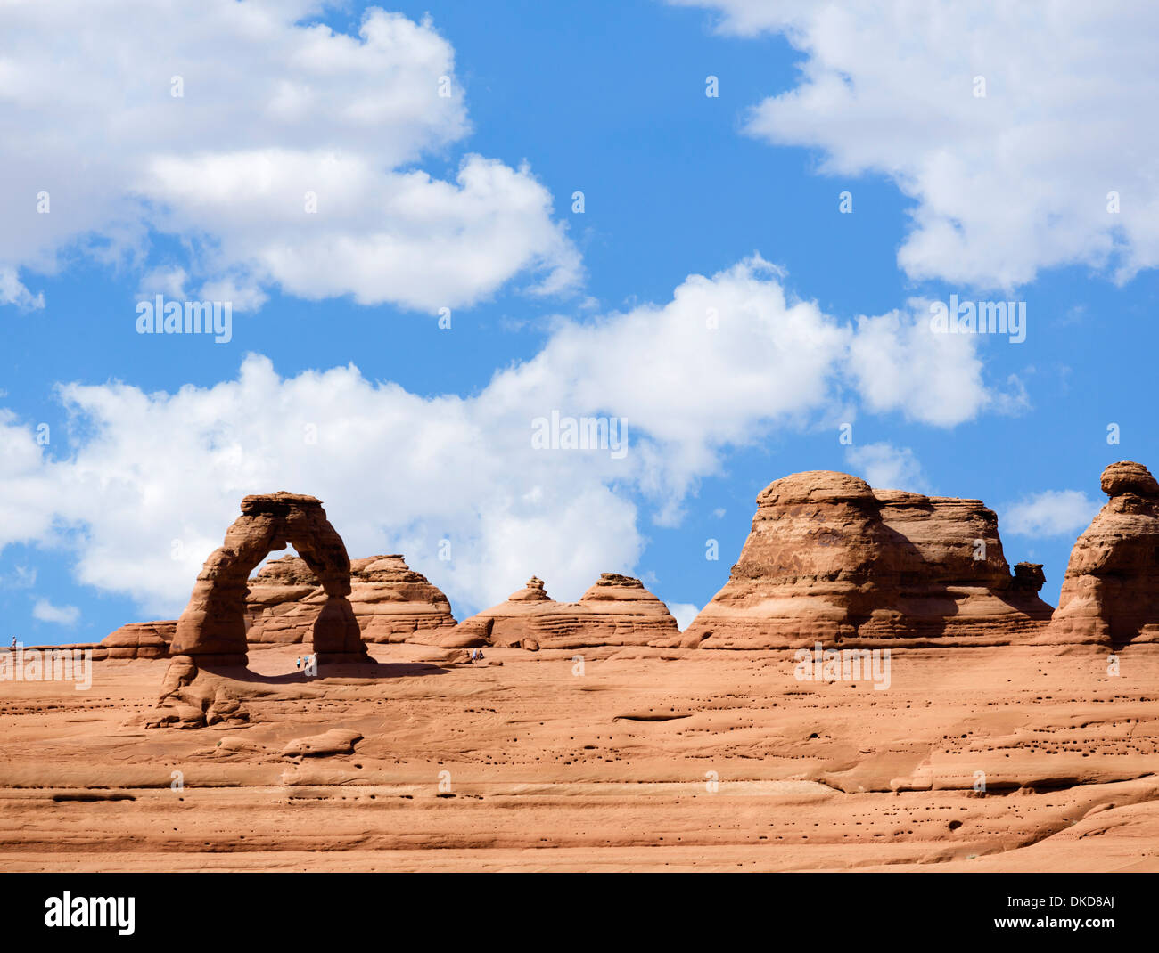 Delicate Arch from Delicate Arch Viewpoint, Arches National Park, Utah, USA - Stock Image