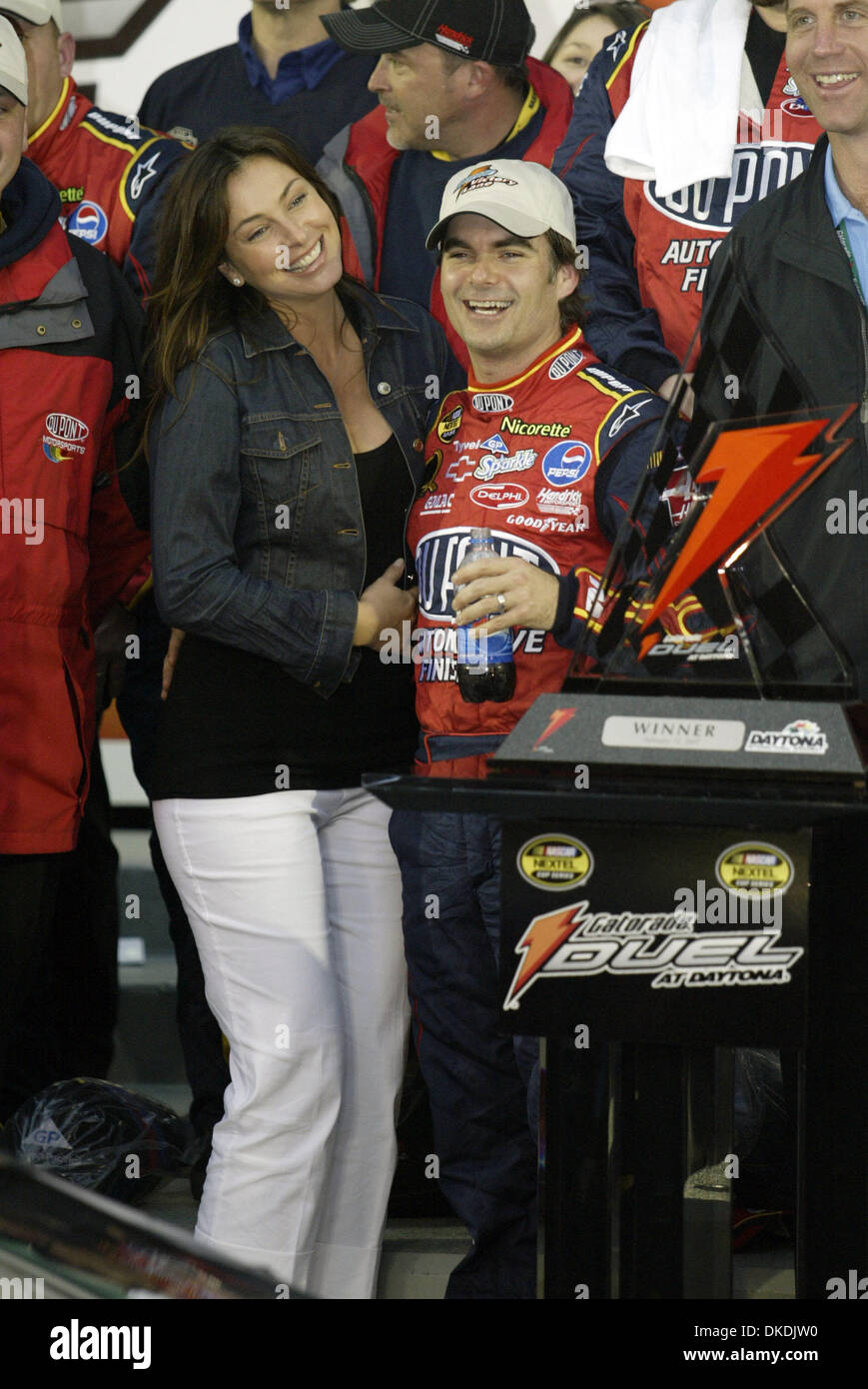 Feb 15 2007 Daytona Beach Fl Usa Jeff Gordon 24 With His Stock Photo Alamy