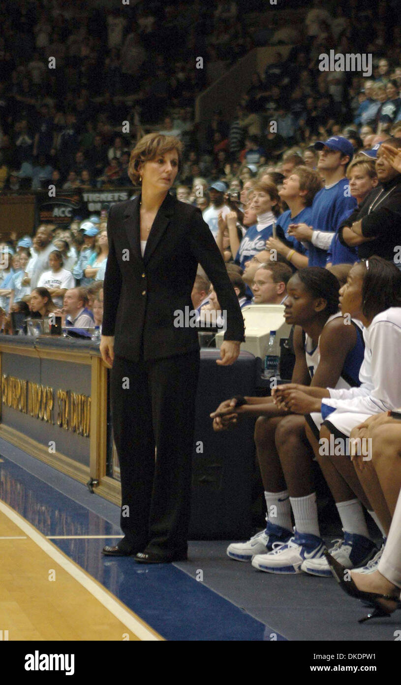 Mar 31, 2007 - Richmond, VA, USA - Duke University women's basketball coach, GAIL GOESTENKORS, is named Coach of the Year by the Associated Press.  (Credit Image: © Tina Fultz/ZUMA Press) - Stock Image