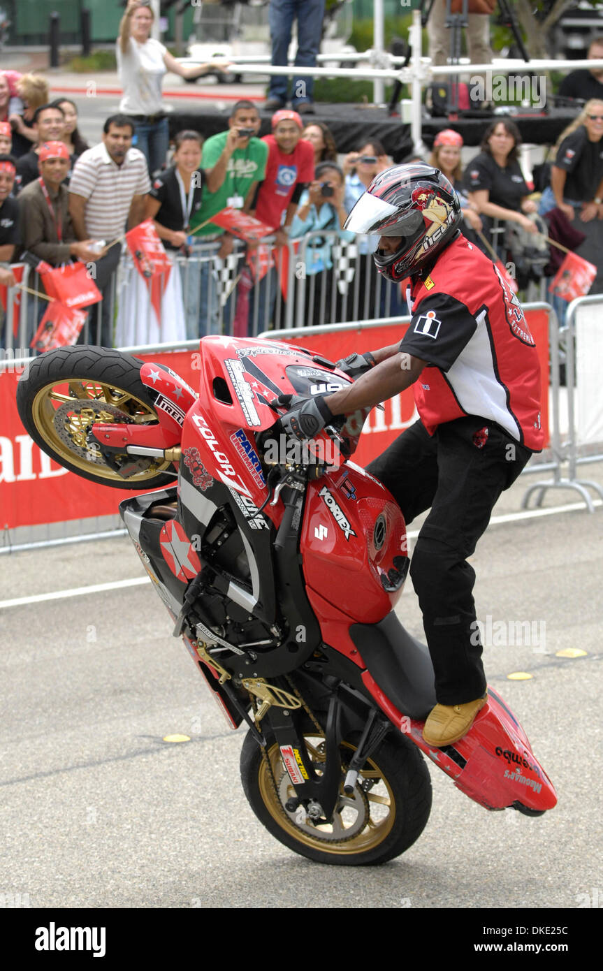Jul 18, 2007 - Milpitas, CA, USA - Stunt rider JASON BRITTON of Team
