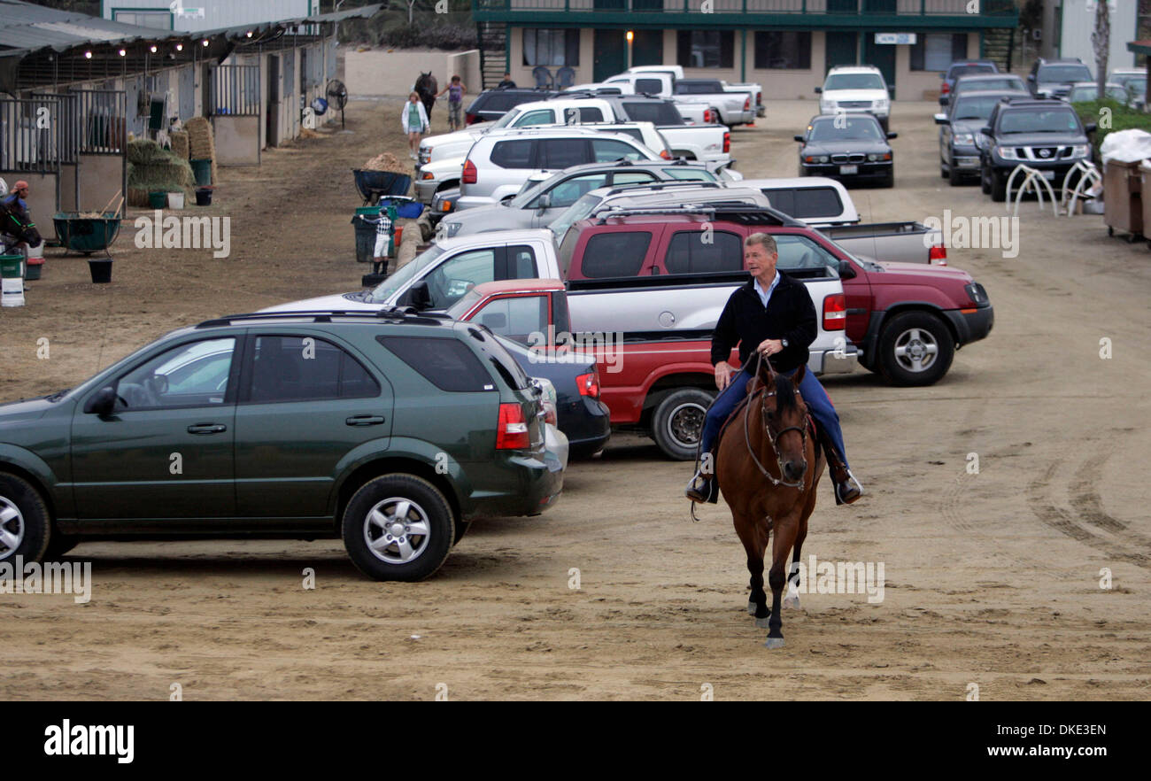 Aug 02, 2007 - Del Mar, CA, USA - JOE HARPER, who has headed Del Mar Racetrack for more than two decades is also a respected horseman who goes out most mornings to ride with the jockeys and trainers.  Harper was also a child actor and grandson of Cecil B. DeMille, the famed director.   (Credit Image: © John Gastaldo/SDU-T/ZUMA Press) RESTRICTIONS:  LA and Orange County Papers RIGHT - Stock Image