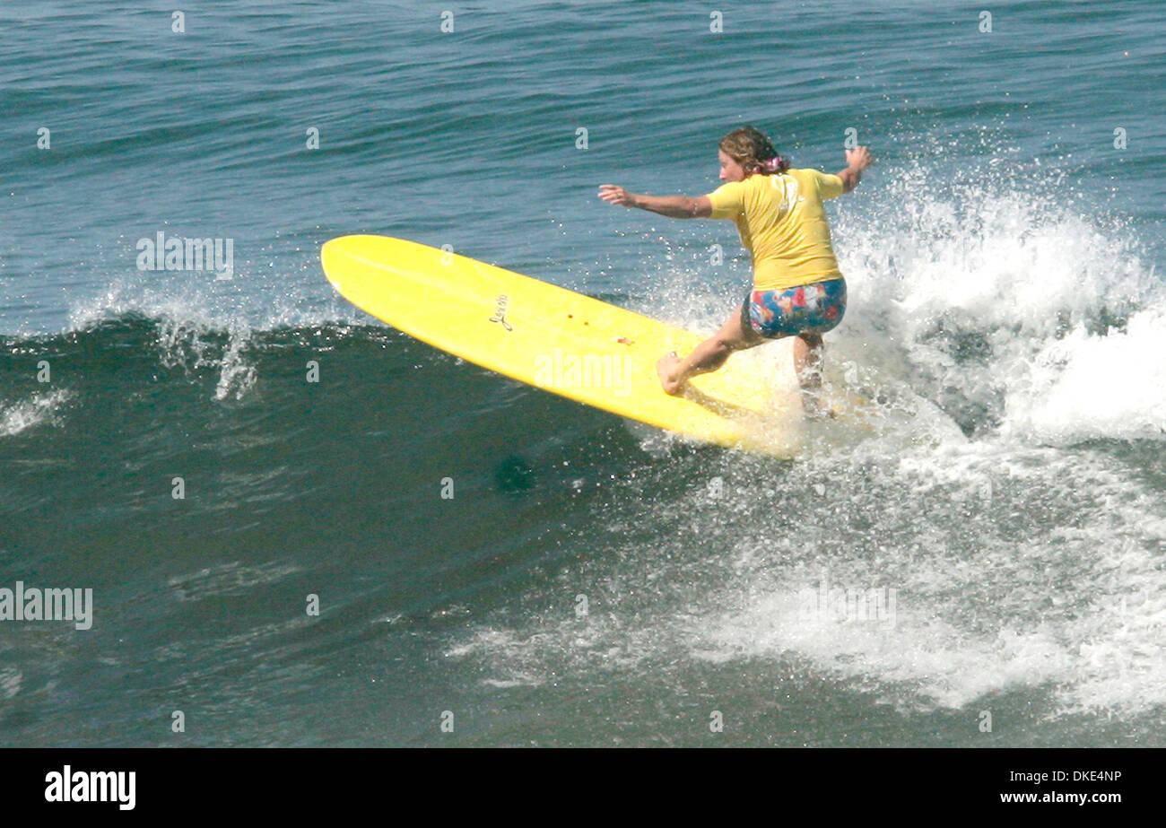 Aug 19, 2007 - La Jolla, CA, USA - Surfer and cancer survivor JERICHO POPPLER at the 14th Annual Luau and Longboard Invitational at Scripps Institute of Oceanography. (Credit Image: © Kohlbauer Don/SDU-T/ZUMA Press) RESTRICTIONS:  LA and Orange County Papers RIGHTS OUT! and USA Tabloid RIGHTS OUT! - Stock Image