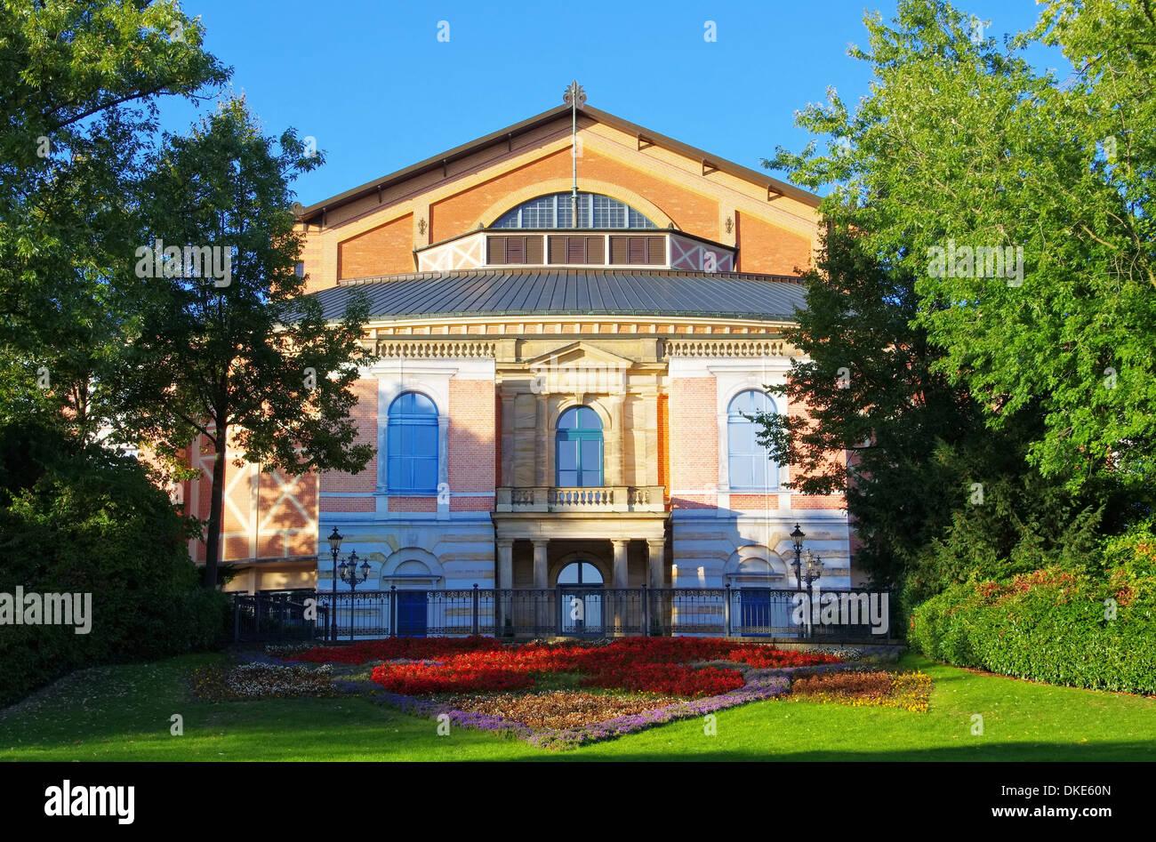 Bayreuth Festspielhaus - Bayreuth Festival Theatre 03 - Stock Image