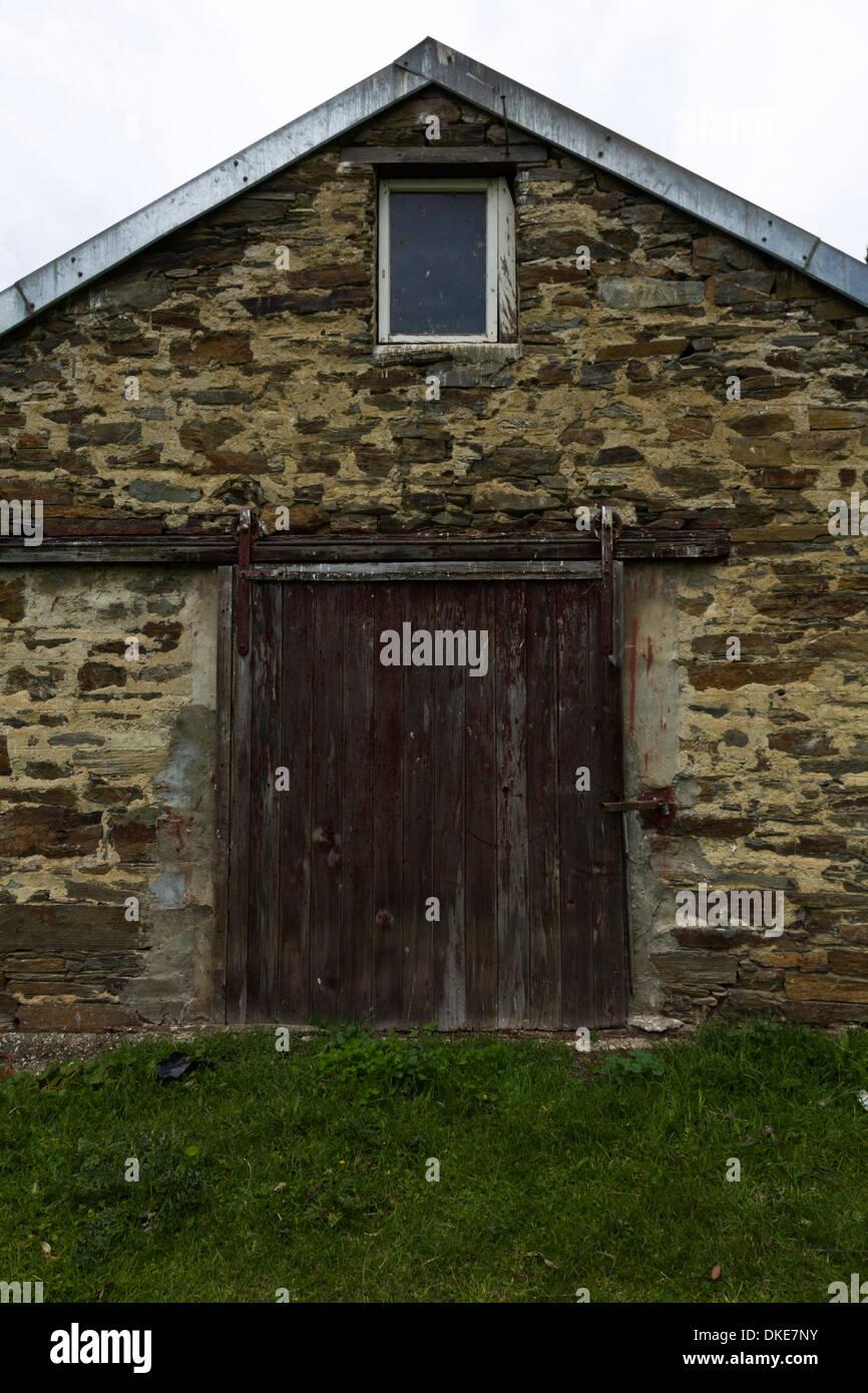 Abandoned farm houses on the South Island of New Zealand
