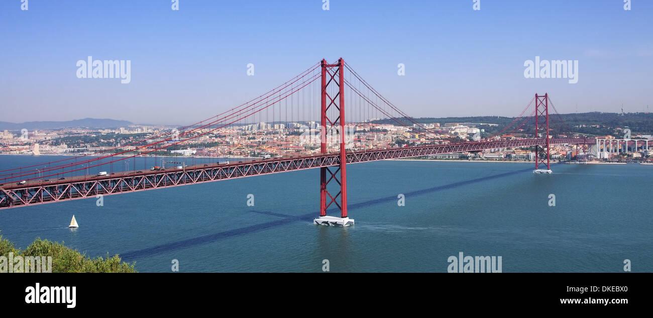Lissabon Bruecke - Lisbon bridge 05 - Stock Image