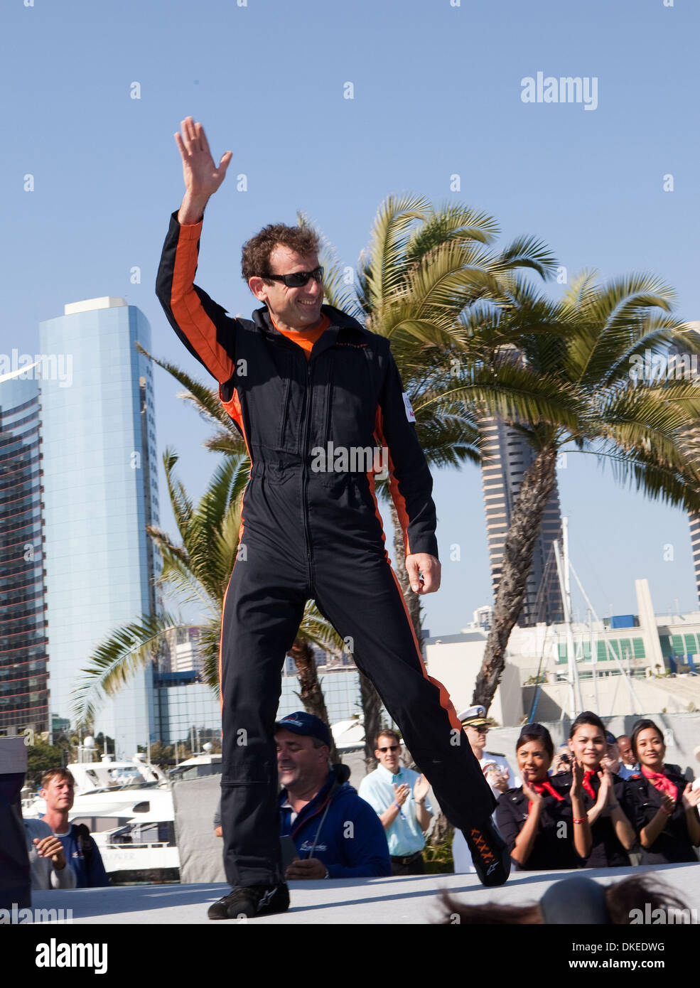 May 10, 2009 - San Diego, California, USA - NICOLAS IVANOFF from France winner of the 2009 Red Bull Air Race in Stock Photo