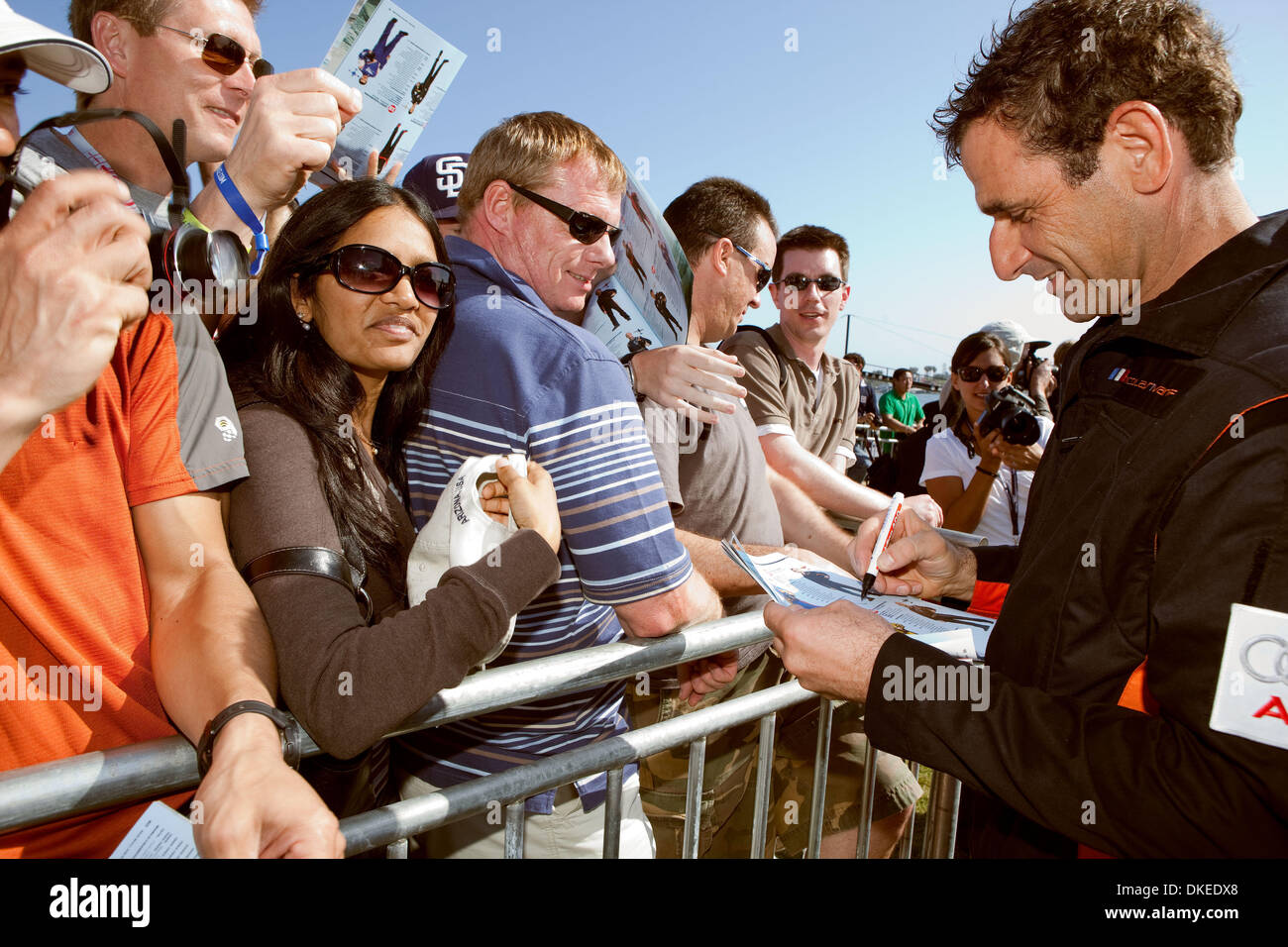 May 10, 2009 - San Diego, California, USA - NICOLAS IVANOFF  from France signing autographs after winning the 2009 Stock Photo