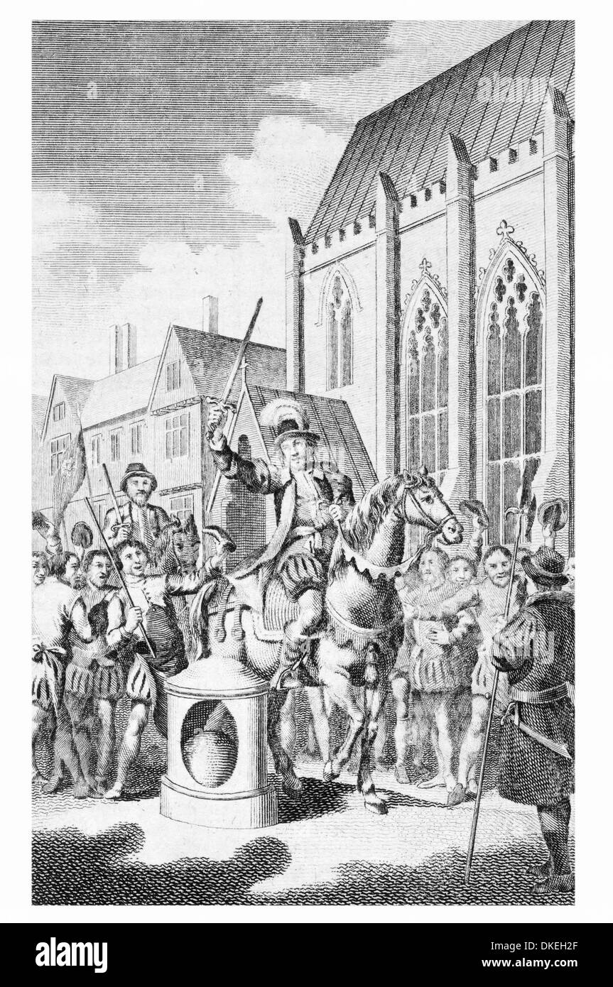 Jack Cade declaring himself Lord of the City of London Stock Photo