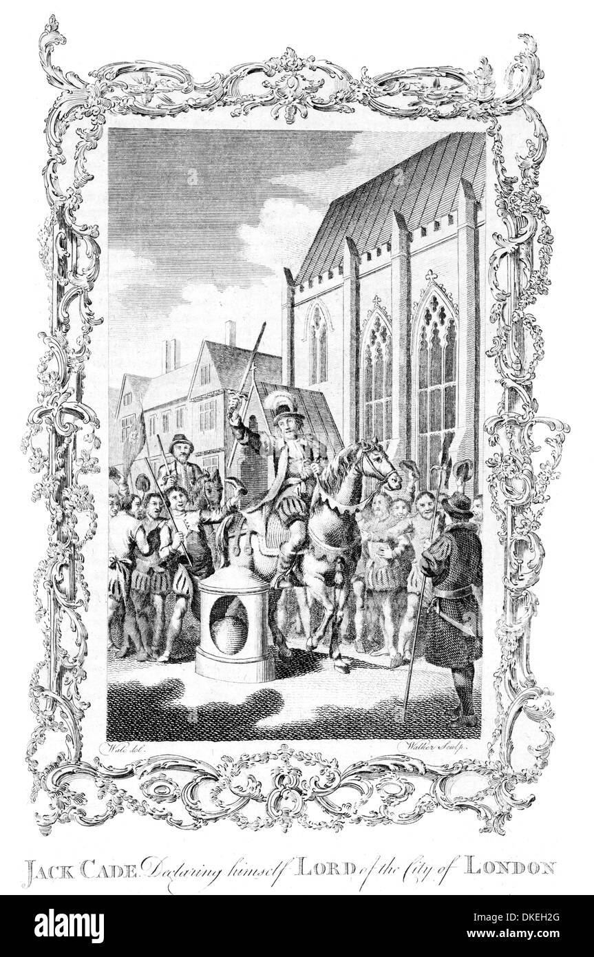Jack Cade declaring himself Lord of the City of London - Stock Image
