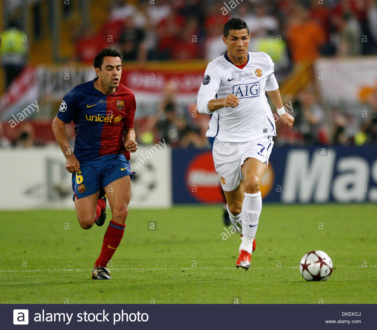 Barcelona Vs Real Madrid Or Liverpool Vs Manchester United: Xavi Champions League Stock Photos & Xavi Champions League