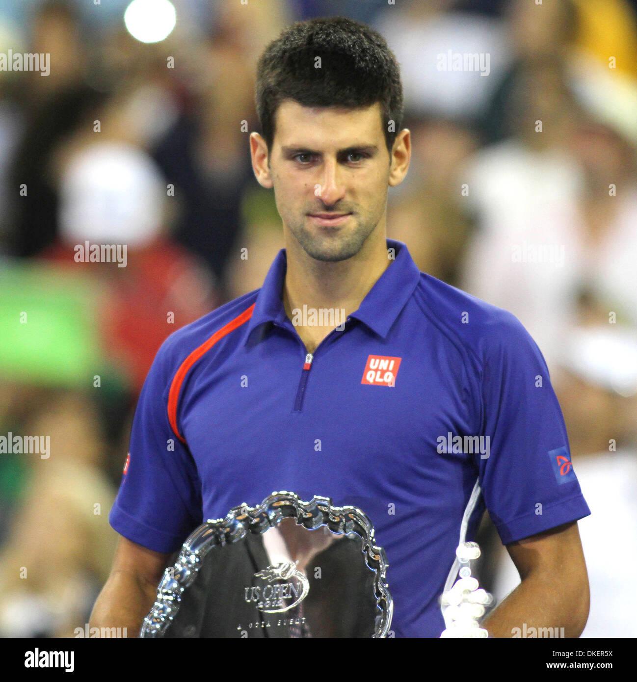 Novak Djokovic (Serbia) U.S Open 2012 Men's Final - Novak Djokovic (Serbia) vs Andy Murray (Scotland) - USTA Billie Jean King - Stock Image
