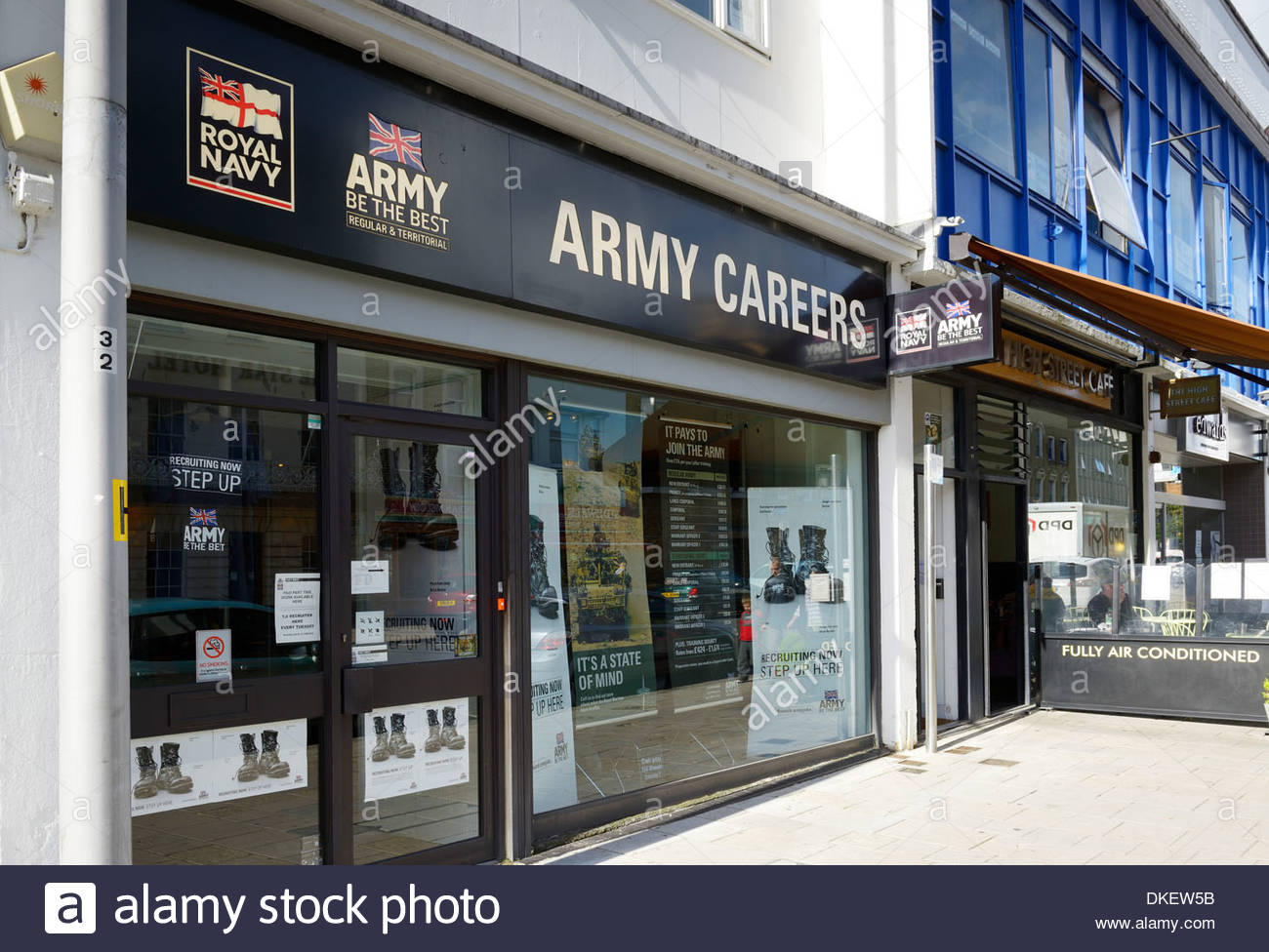 Army Careers Office, Southampton, Hampshire England UK - Stock Image