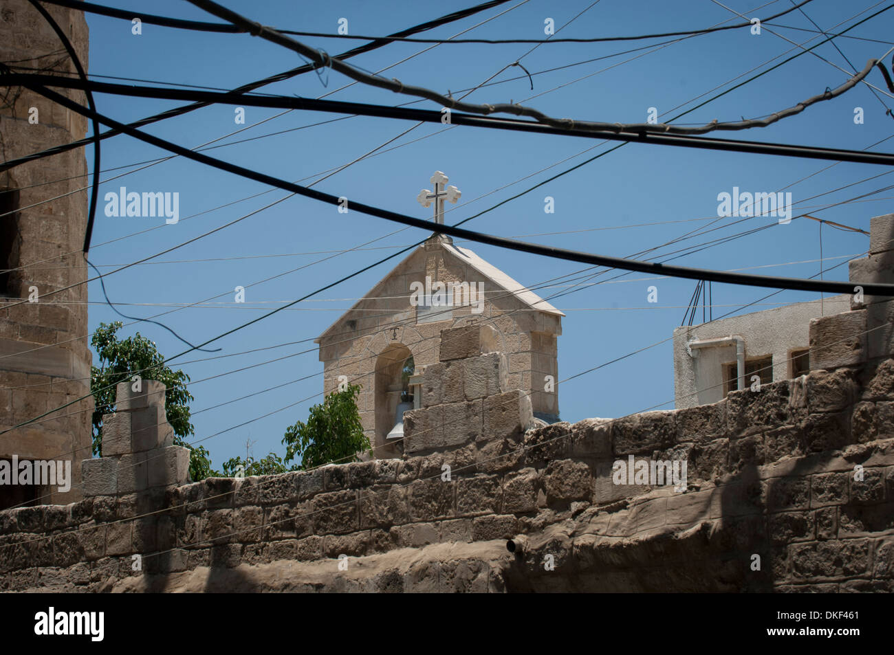 Saint Porphyrius Church, El Zaiton, Gaza City, Gaza, Palestinian Territories. - Stock Image