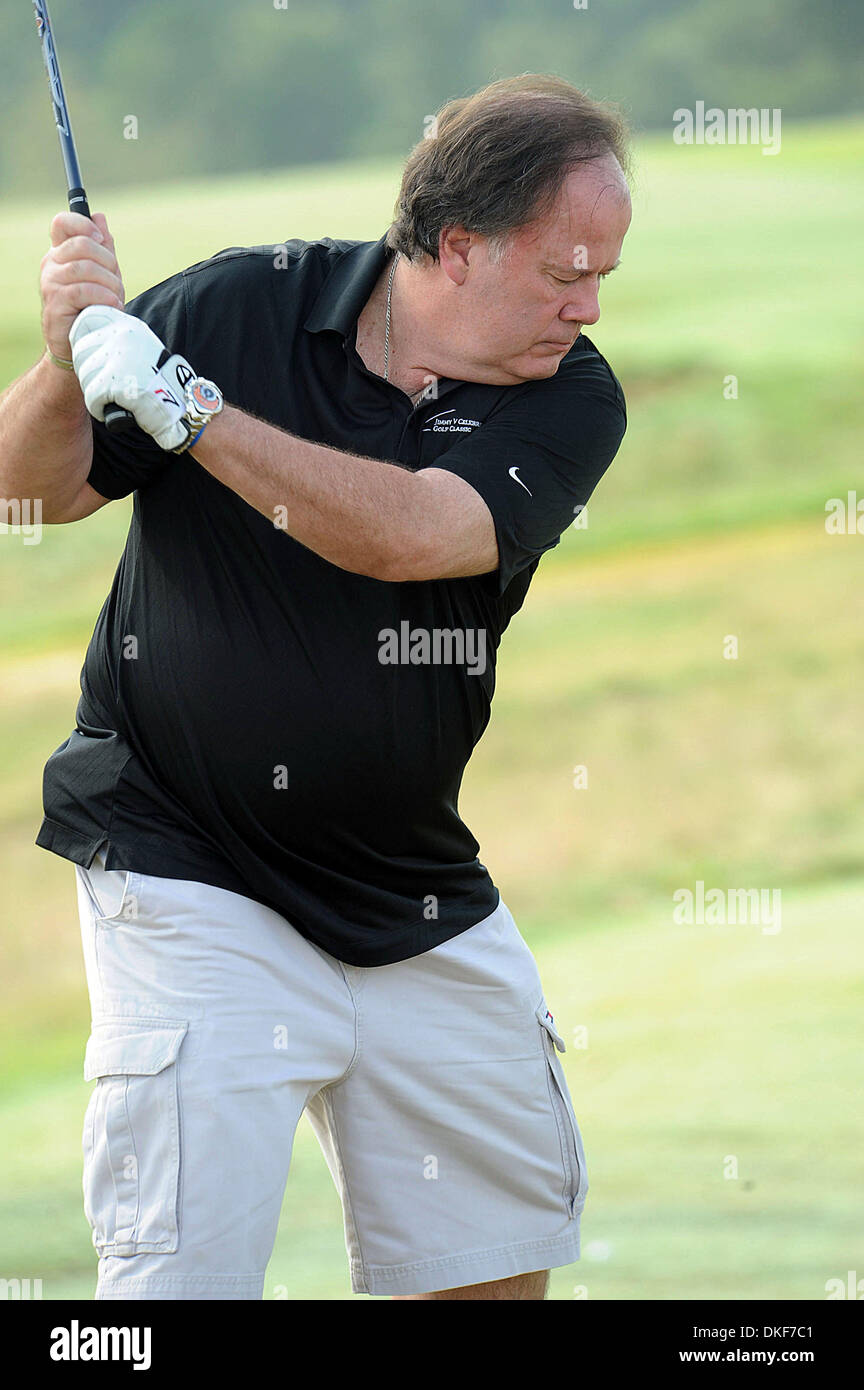 Aug 16, 2009; Raleigh, North Carolina, USA; Actor DENNIS HASKINS takes part in the 2009 Jimmy V Celebrity Golf Classic Stock Photo