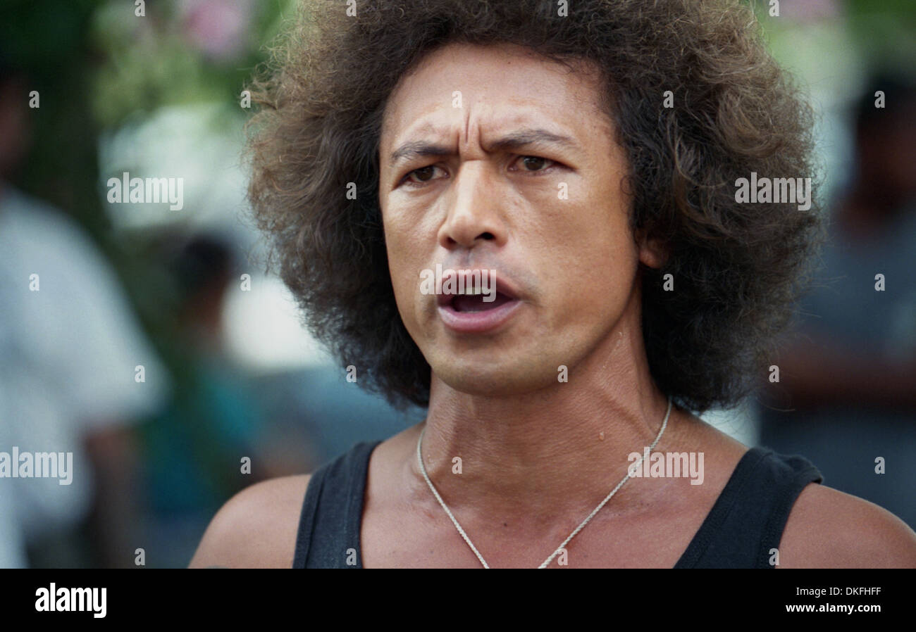 A Polynesian man screaming out his anger against the French colonialism in Papete, Tahiti. - Stock Image
