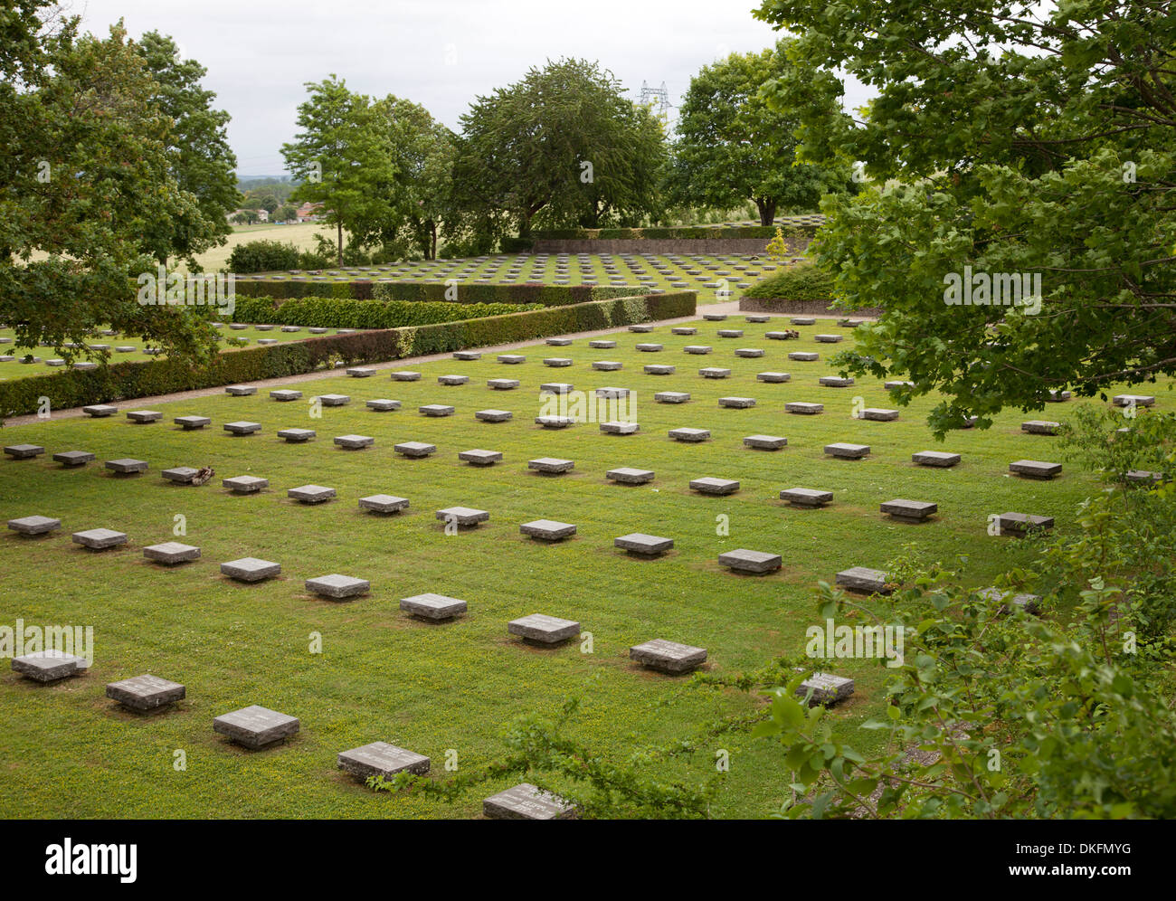 German WW2 cemetery at Berneuil, Charente Maritime - Stock Image