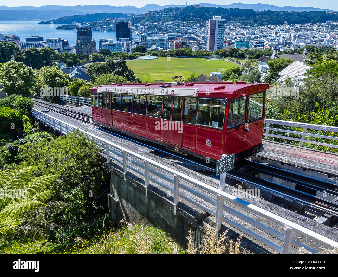Cable car, Wellington, North Island, New Zealand, Pacific - Stock Image