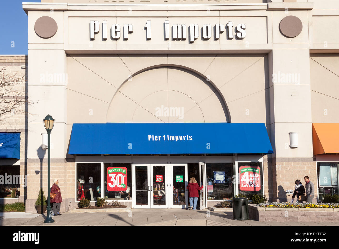Pier 1 Imports box store, White Marsh, Maryland, Baltimore County. - Stock Image