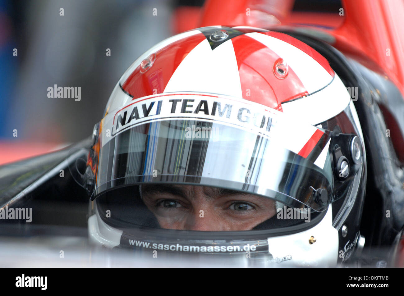 June 9, 2009 - Le Mans, France - Team Goh Porsche driver SASCHA MAASSEN, of Germany, waits during free practice, Wednesday, June 10, 2009, in Le Mans, France. (Credit Image: © Rainier Ehrhardt/ZUMAPRESS.com) - Stock Image