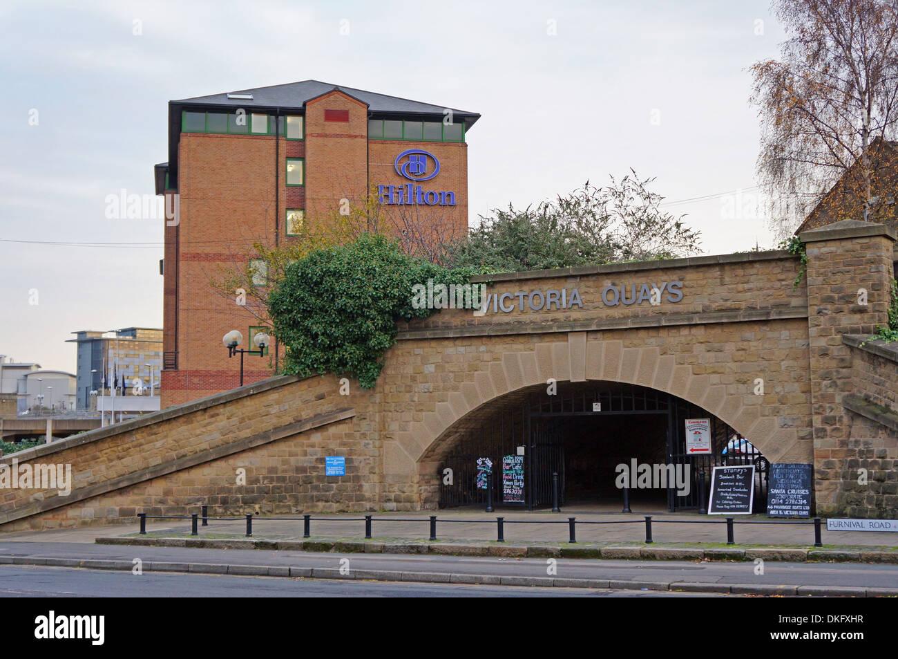 Hilton hotel Sheffield Englang Uk - Stock Image