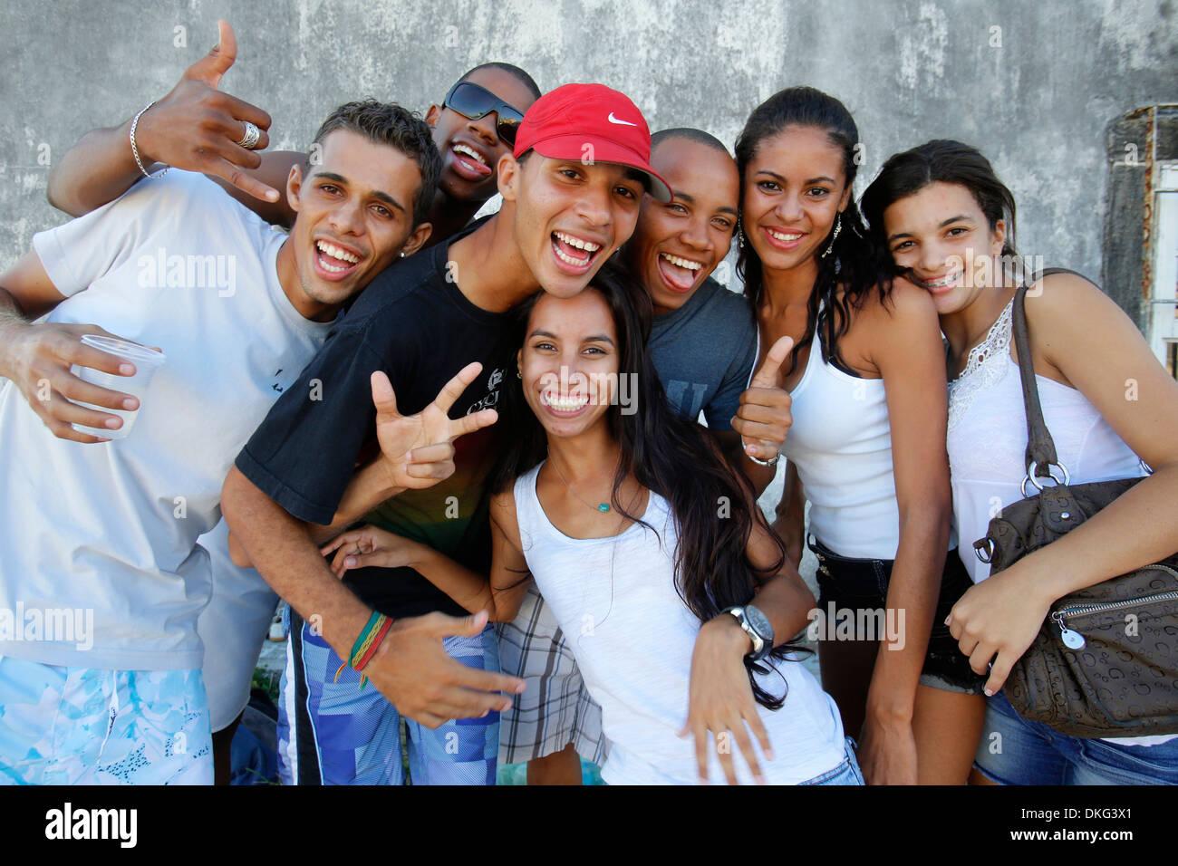 Brazilian youth, Salvador, Bahia, Brazil, South America - Stock Image